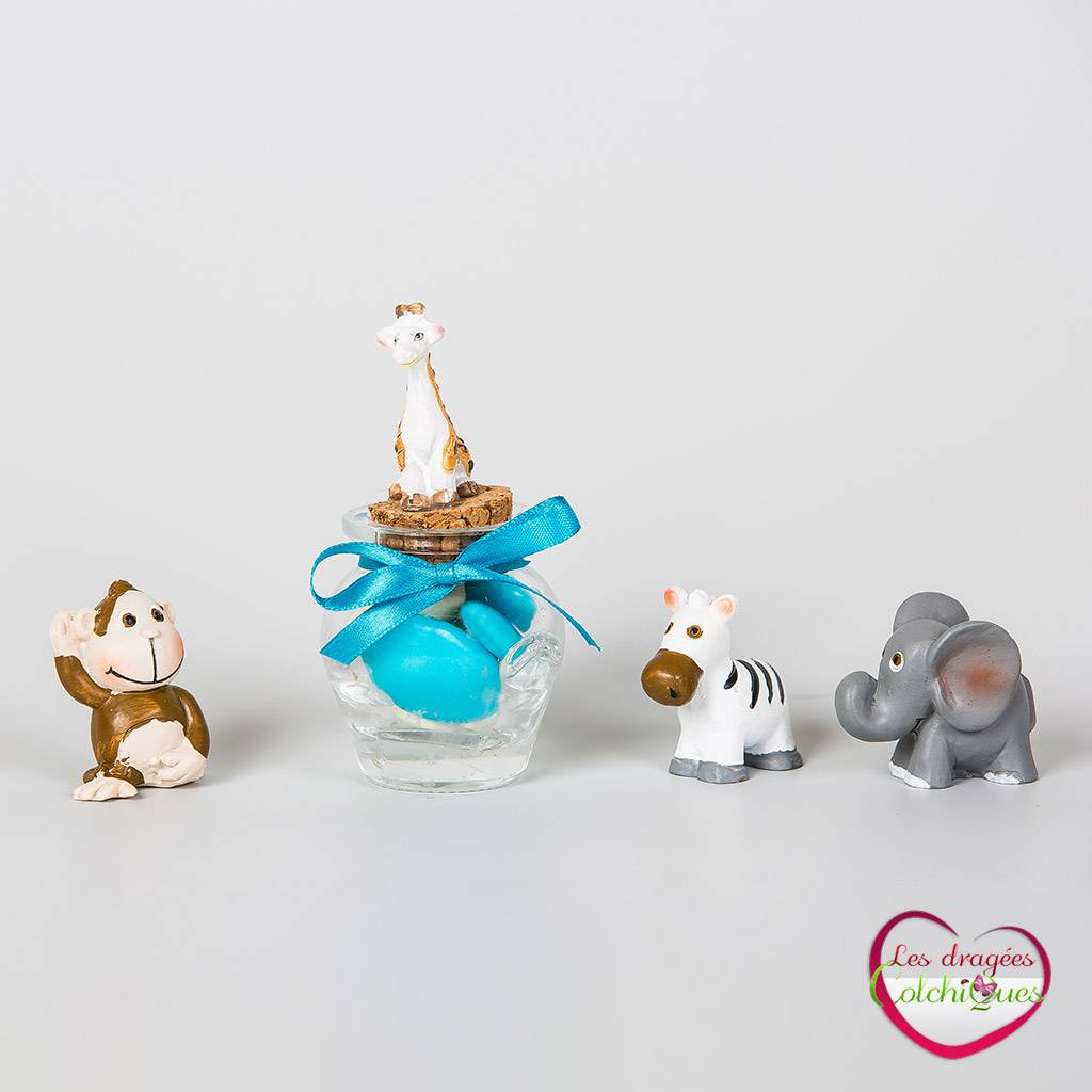 boutique de petites figurines animaux jungle savane pour poser sur contenants drag es vente. Black Bedroom Furniture Sets. Home Design Ideas