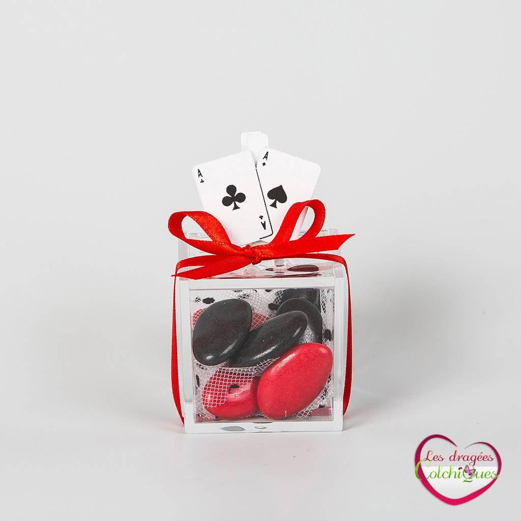 Contenant Dragees Mariage Idée Cadeau Sur Le Theme Casino Et